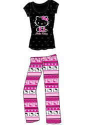 Hello Kitty - Black & Pink Logo - Pajama Set