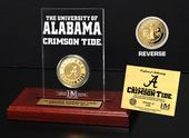 University of Alabama Gold Coin Etched Acrylic