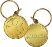 Clemson University Bronze Coin Keychain