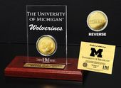 Iuniversity of Michigan Gold Coin Etched Acrylic
