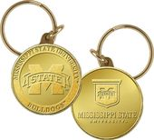 Mississippi State University Bronze Coin Keychain