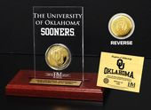 University of Oklahoma Gold Coin Etched Acrylic