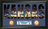 "University of Kansas Basketball ""Word Art"" Bronze"