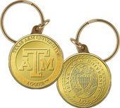 Texas A&M University Bronze Coin Keychain