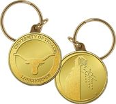 University of Texas Bronze Coin Keychain