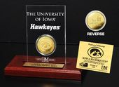 Univeristy of Iowa Gold Coin Etched Acrylic