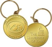 University of Iowa Bronze Coin Keychain