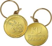 University of Kansas Bronze Coin Keychain