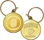 University of Oregon Bronze Coin Keychain