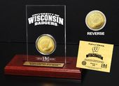 University of Wisconsin Gold Coin Etched Acrylic