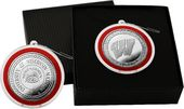 University of Wisconsin Silver Coin Ornament