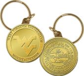 West Virginia University Bronze Coin Keychain