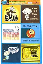 Family Guy - 6 Piece Magnets Squares - Magnet Set