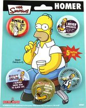 The Simpsons - Homer 5 Piece - Button Set