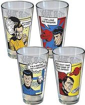 Star Trek - Comic Strip: 4 Piece Pint Glass Set