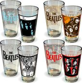 The Beatles - Albums: 4-Pack Pint Glass Set