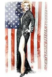Marilyn Monroe - US Flag - Plush Blanket