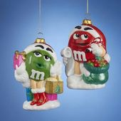M&M - Red & Green - Christmas Ornament