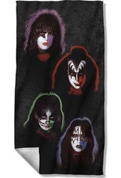 KISS - Solo Heads - Beach Towel