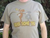 Rocky & Bullwinkle - Grab Some Tail - T-Shirt