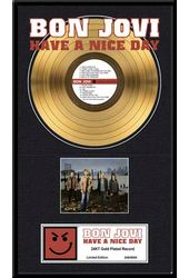 "Bon Jovi - Have A Nice Day: Framed 16""x24"" Gold"