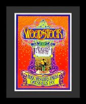 Woodstock - Framed Bob Masse Original Concert