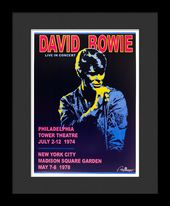 David Bowie - Framed Bob Masse Original Concert