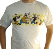 Popeye - Cast Marching Distress Print - T-Shirt