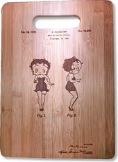 Betty Boop - Original Patent Wood Cutting Board