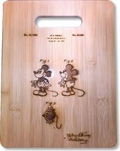 Mickey Mouse - Original Patent Wood Cutting Board