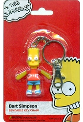 "The Simpsons - Bart Simpson 2.5"" Bendable Keychain"