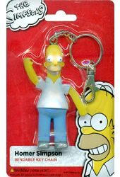 The Simpsons - Homer Simpson 3.5 Bendable Keychain