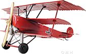 1917 Red Baron Fokker Model Triplane