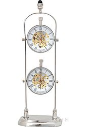 Brass See Thru Clock Double