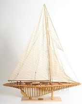 Shamrock Open Hull Model Sail Boat