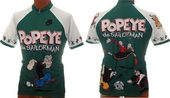 Popeye - Cycling Jersey Short Sleeve Green & White