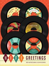 Retro Vinyl - Hi-Fi Greetings - 12-Piece Notecard