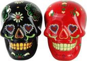 Day of the Dead - Skulls: Black & Red - Salt &