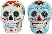 Day of the Dead - Skulls: White & Blue Skulls -