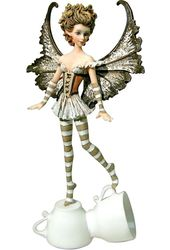 Tea Cup Fairy Collection - Espresso Fairy Figurine