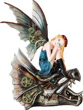 Steampunk - Blonde Fairy Riding Dragon