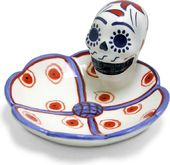 Day Of The Dead Skull Dish - Blue