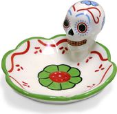 Day Of The Dead Skull Dish - Green
