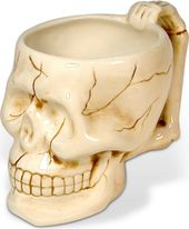 Skull - 12 oz. White Ceramic Mug