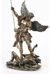 "St. Michael - Archangel 10"" Statue (Bronze Coated"