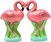 Flamingos - Magnetized Ceramic Salt & Pepper