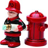 Fireman & Hydrant - Magnetized Ceramic Salt &