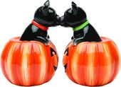 Kissing Black Cats in Jack-o-Lanterns -