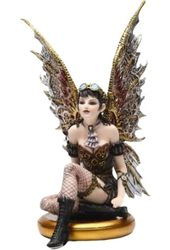 Steampunk - Fairy On A Golden Pedestal