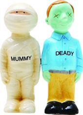 Mummy & Zombie Deady - Magnetized Ceramic Salt &